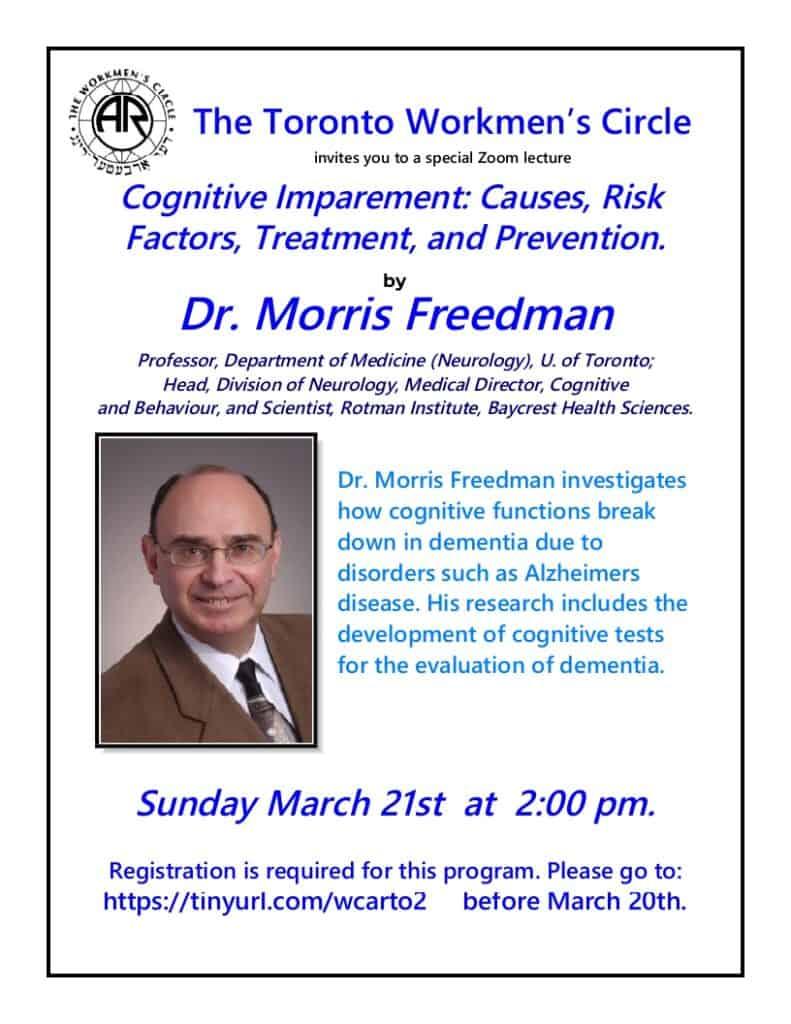 Dr. Morris Freedman March 21 2021
